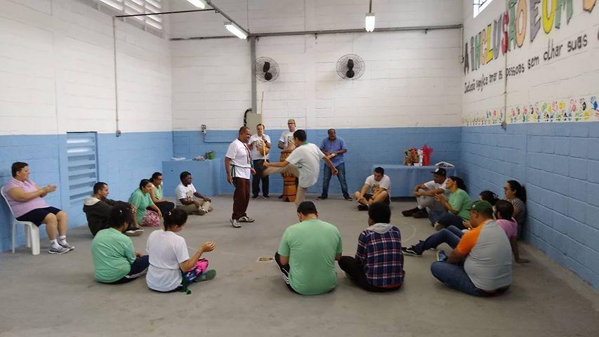 roda de capoeira adaptada